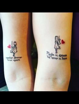 情侣间好看可爱的带英文字母纹身小图案欣赏