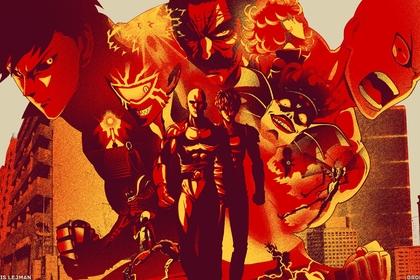 《一拳超人》人物全角色大合照壁纸图片,简直酷毙了