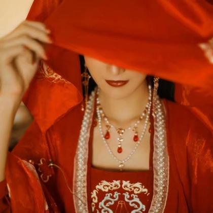传统汉服新娘装古风女神高清头像