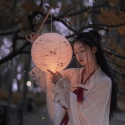 提纸灯笼的古风少女,仙气的汉服美女头像4月27日合集