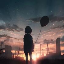 月光下的小女孩,背影插画美图,为什么会给人伤感,孤单的感觉呢?
