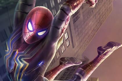 漫威蜘蛛侠同名3D游戏巨制游戏内蜘蛛侠飞跃场景高清壁纸
