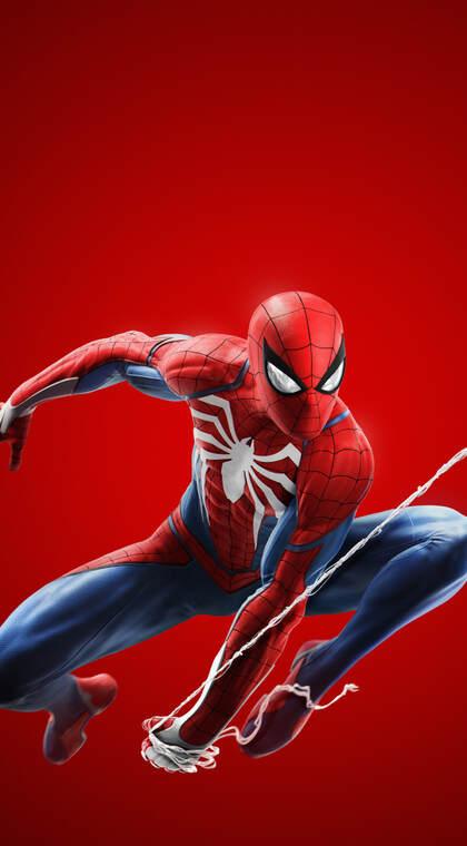 拉丝飞跃的漫威英雄人物蜘蛛侠高清手机壁纸