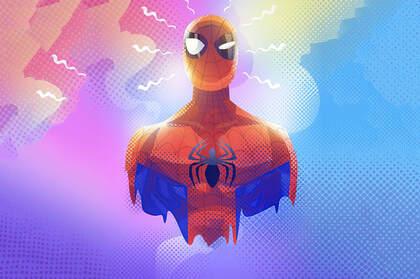 穿托尼版蜘蛛侠外套的蜘蛛侠等电脑壁纸