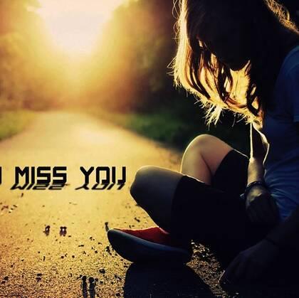 I Miss you文字图片,不同唯美图案背景中的我想你英文字母插画美图