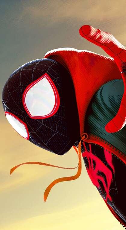 动漫漫威人物 红色卫衣 黑色衣服 蜘蛛侠高清手机壁纸图片