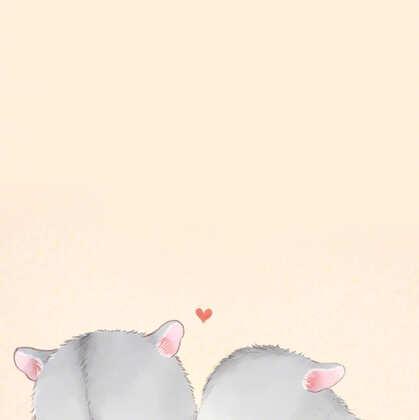 可爱的动物情侣插画,拟人化卡通动物情侣精选图片