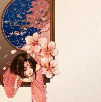 美人 桃花 相映红 唯美古风主题图片