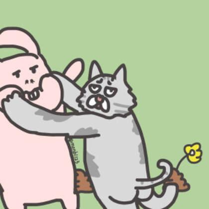 搞怪搞笑的可爱沙雕卡通人物个性情侣专用头像图片