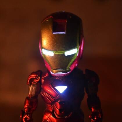 钢铁侠,可爱的漫威英雄钢铁侠玩具,手办,精致收藏品高清图片