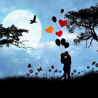 浪漫场景里的 情侣,求婚,恩爱,相依相偎等唯美爱情图片