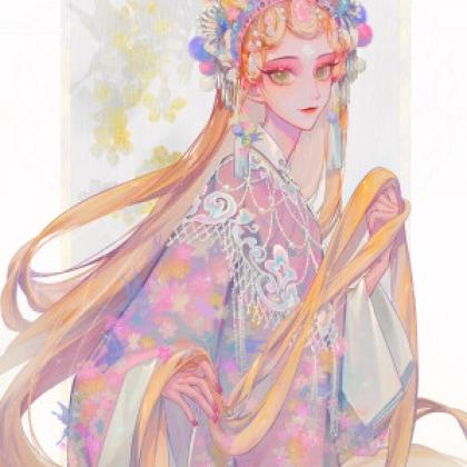 戏服,汉服,旗袍,侠女装,民族风等手绘古装动漫美女头像图片