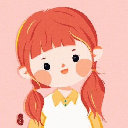 圆圆脸蛋超可爱的手绘小女孩插画头像图片,能让一个女孩成长的从来不是什么鸡汤