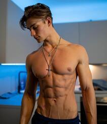 身材超完美的欧美肌肉帅哥男模精选高清私房自拍照片组图6