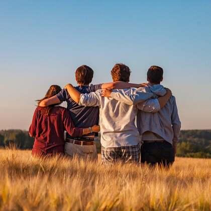 关于友谊,朋友,闺蜜,玩伴的唯美意境图片