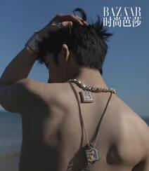 井柏然赤裸半身帅气性感海边写真,海浪、黑马相伴 有性感亦文艺!