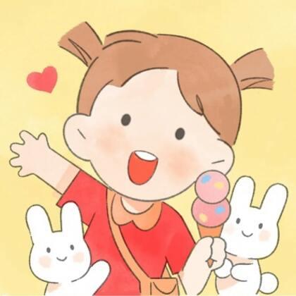 天真无邪,萌萌哒可爱卡通小男孩,小女孩夏日出游高清手绘Qq头像图片