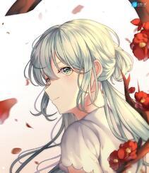 脸蛋红红,害羞的可爱动漫萝莉学生少女高清插画图集,韩国画师Duyu作品组图10