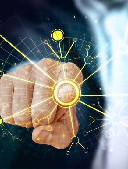 触控技术,手,电路分布,网络科技高清创意美图
