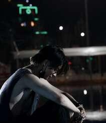 木子洋暗黑个性风格街头,舞台酷帅湿发写真图片组图1