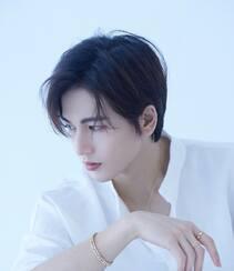 江苏无锡帅哥张凌赫简洁白衬衫穿搭俊朗帅气写真照片组图3