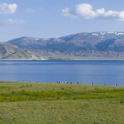新疆赛里木湖,省级旅游名胜景区赛里木湖唯美山水景色图片