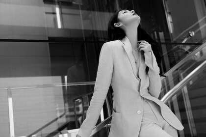 美女傅菁气质职业装、悠闲装街拍等精选高清4K桌面壁纸图片