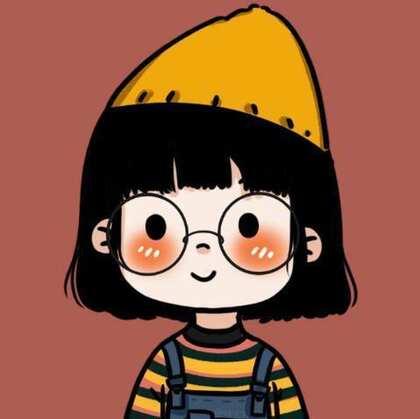 2021年最新款可爱女生头像,戴眼镜的可爱小姑娘,小女孩手绘插画头像图片