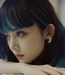 古力娜扎齐刘海染发发型个性气质私房写真照组图1