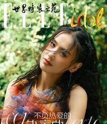 黄圣依染印花裙气质户外写真登杂志图片组图1