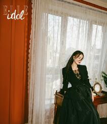 黄圣依染印花裙气质户外写真登杂志图片组图4