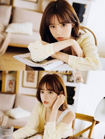 漂亮可人,美丽大方韩系美女小姐姐白背心牛仔短裤居家写真图集