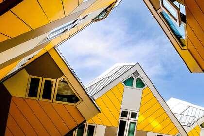欧洲 荷兰 鹿特丹 创意 设计感十足的奇特立方体房子壁纸图片